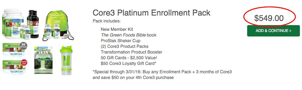 Platinum Enrollment Pack