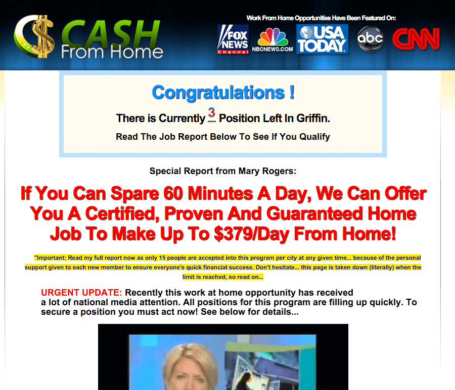 Cash From Home website