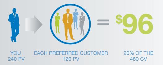 Customer Sales Bonus example