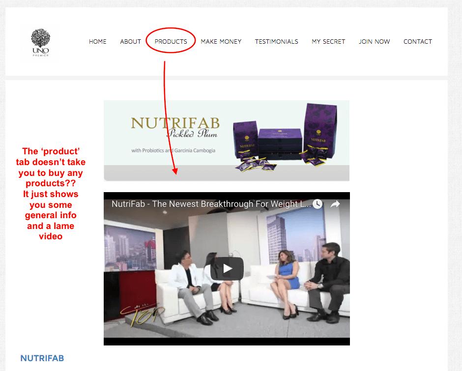 Poor website design