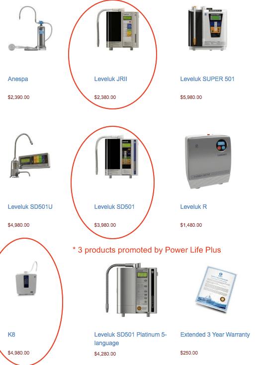 Enagic-Kangen product prices