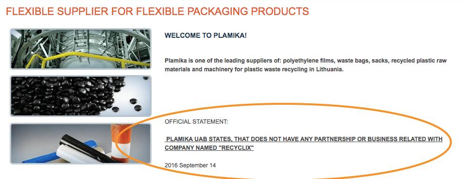 Plamika Official Statement About Recylcix