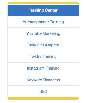 Training Center Tab