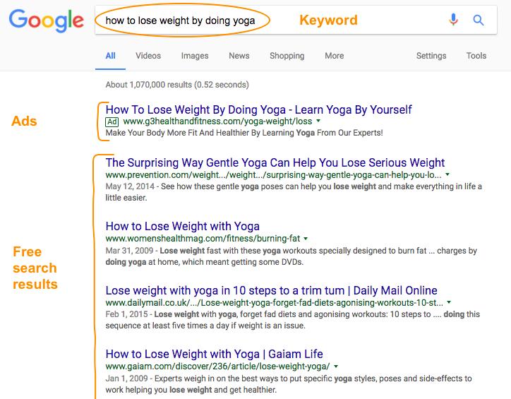 Google Free Organic Search Results