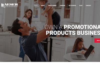 Kaeser & Blair website homepage