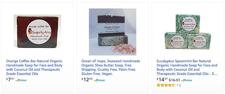 Amazon Handmade Soap Store