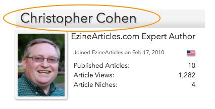 Author Ezine Articles Christopher