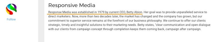 Betty Abion CEO Response Media