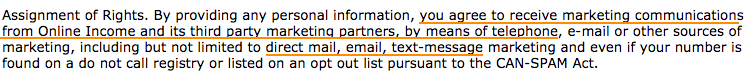 Privacy Policy Spam