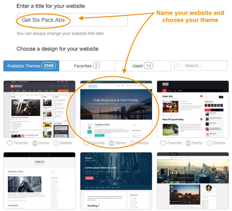 Step 3- Build a Free Website