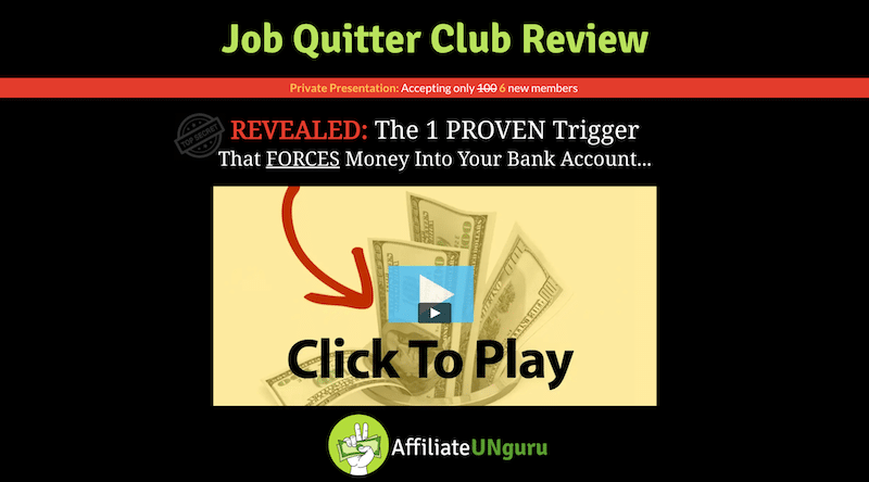 Job Quitter Club Review Banner