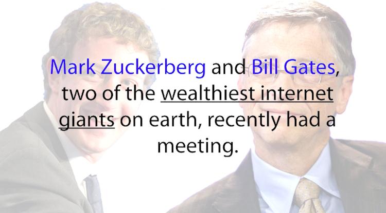Bill Gates and Mark Zuckerberg Meeting