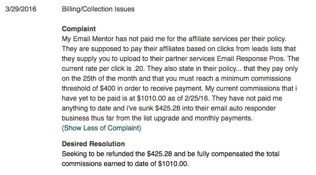 DE Marketing Inc Complaint