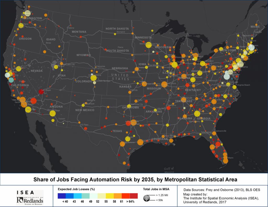 Job Automation Map US