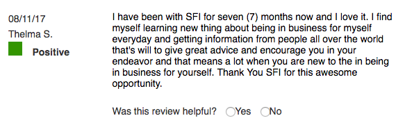 BBB Positive Review SFI