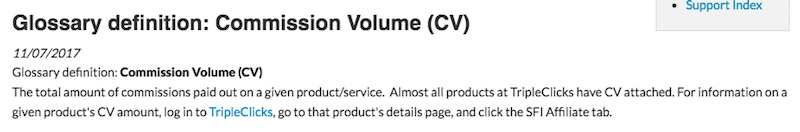 Commission Volume
