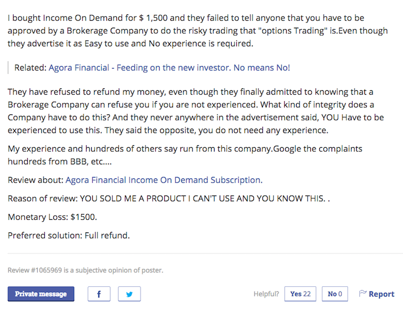 Negative Review Income On Demand