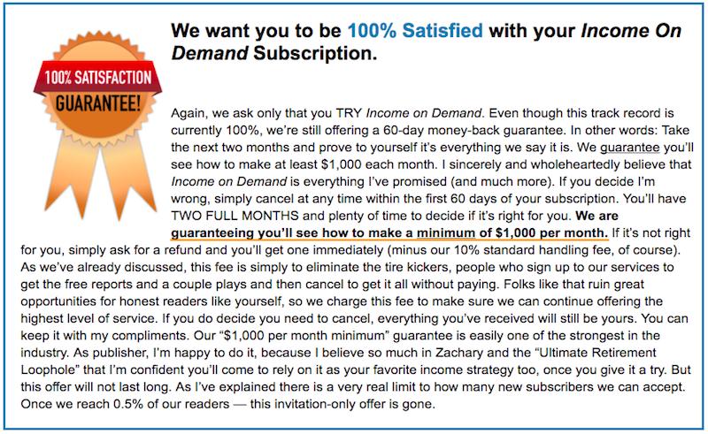 One Thousand Dollar Guarantee
