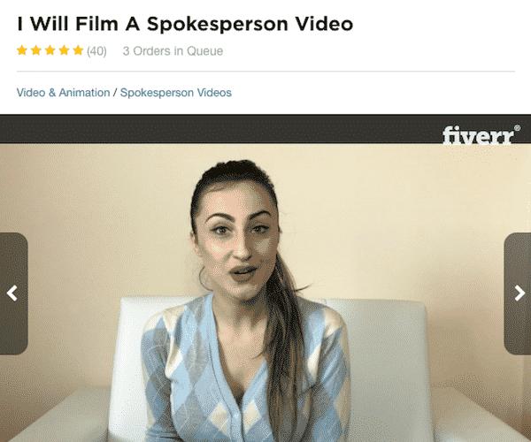 Fiverr Actor Woman