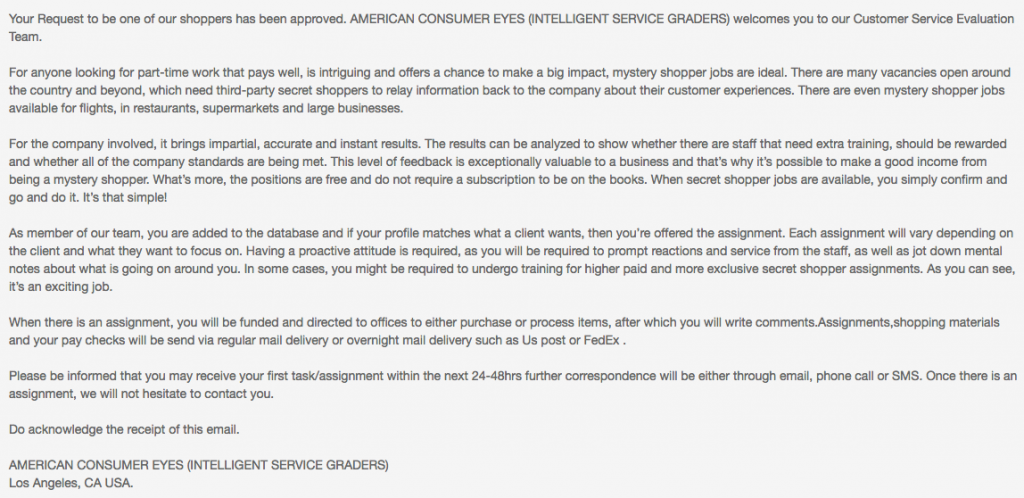 American Consumer Eyes email