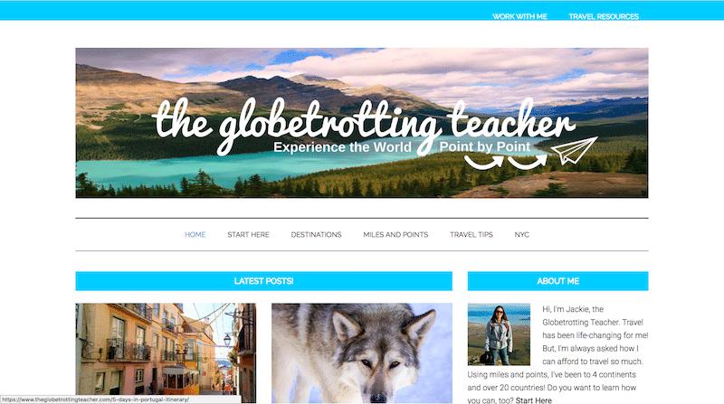 Example Affiliate Travel Site