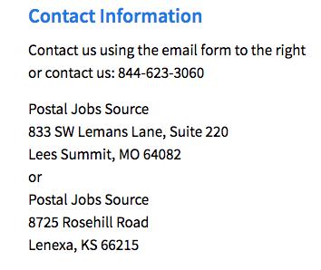 Address for Postal Job Source
