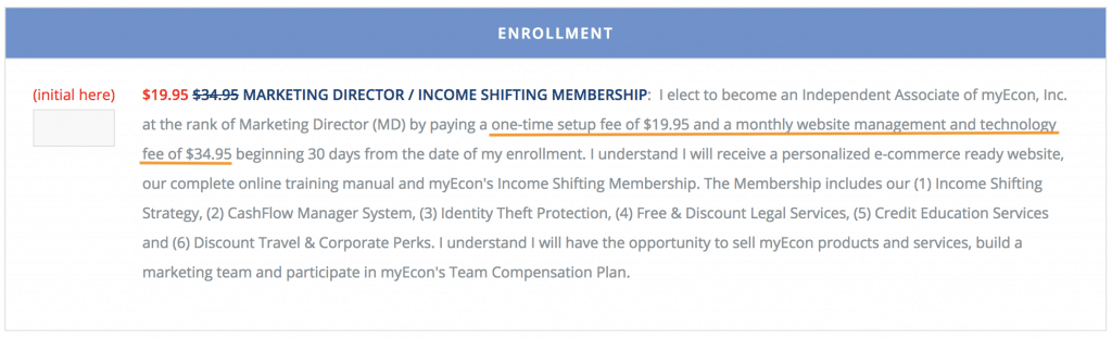 myEcon Startup Costs