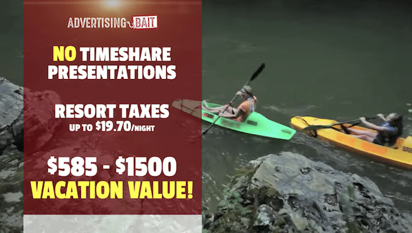 Advertising Bait Vacation Incentives