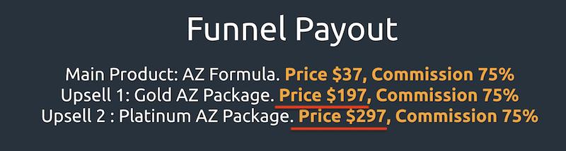 AZ Formula Upsells