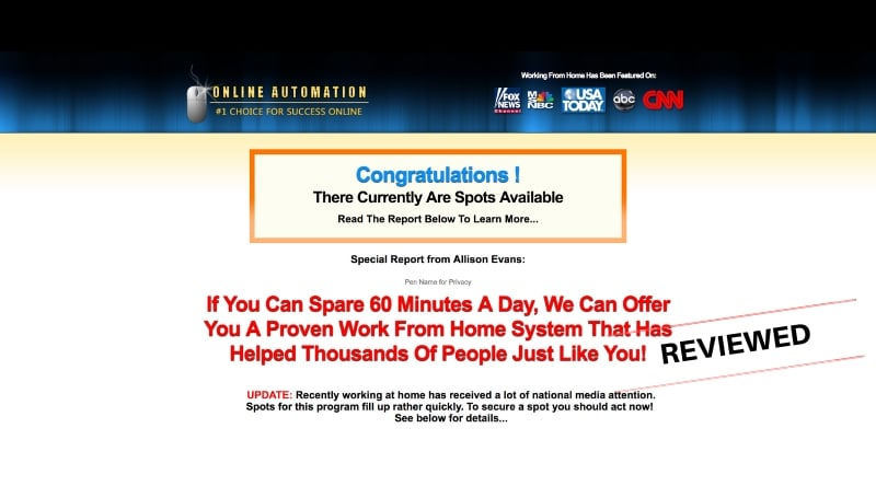 Is Online Automation a Scam System or Legitimate Way to Make Money Online
