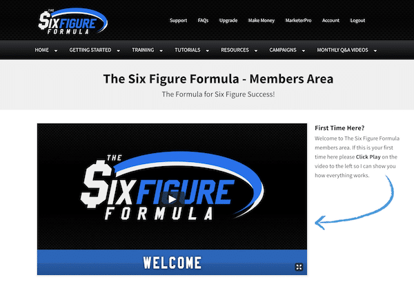 The Six Figure Formula Members Area