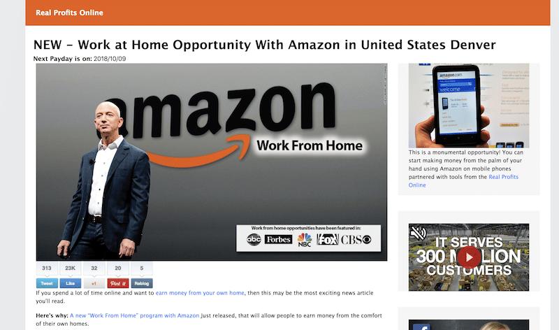 Fake Amazon Job News Article