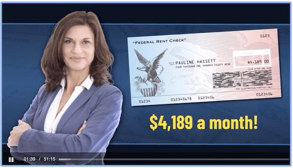 Fake Testimonial for Federal Rent Checks