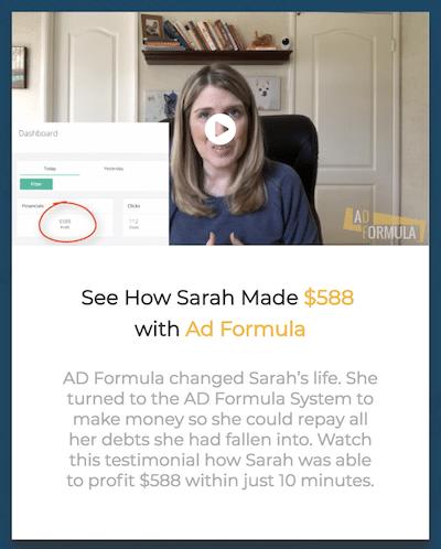 Fake Testimonial AD Formula