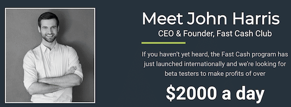 John Harris CEO Fast Cash Club