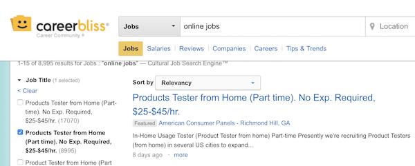 Fake Home Job Listing