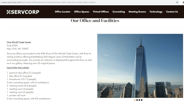 Virtual Office Location
