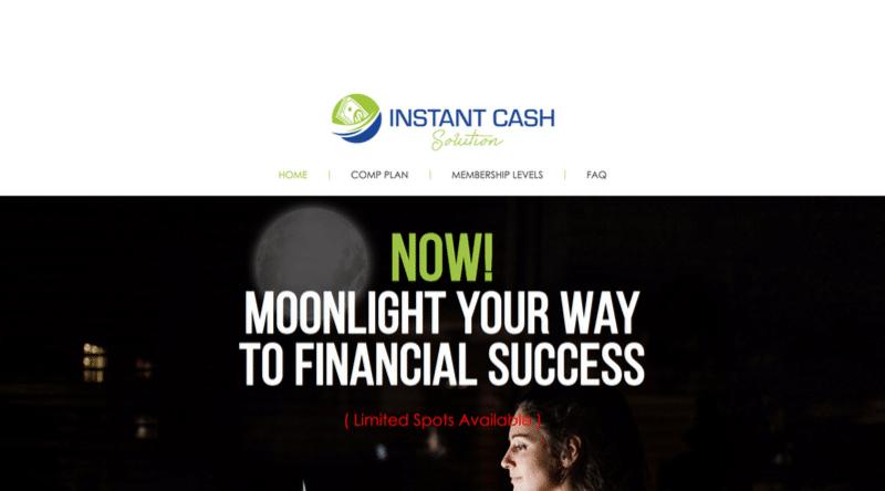 Instant Cash Solution Website