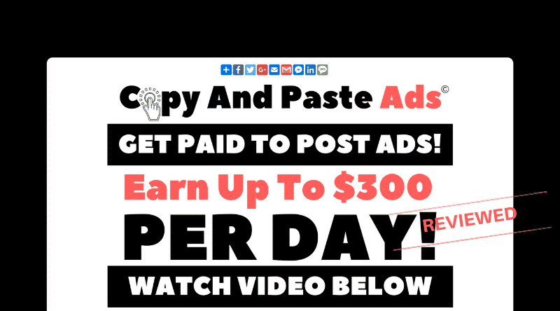 Copy And Paste Ads - Legit System or Big Scam - Review