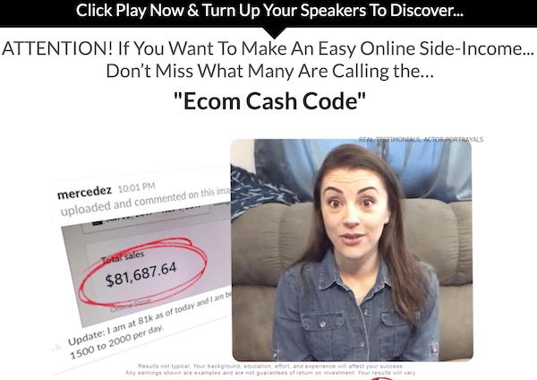 Fake Testimonial Ecom Cash Code