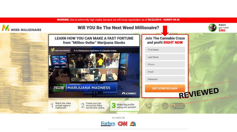 Weed Millionaire - Scam or Legit