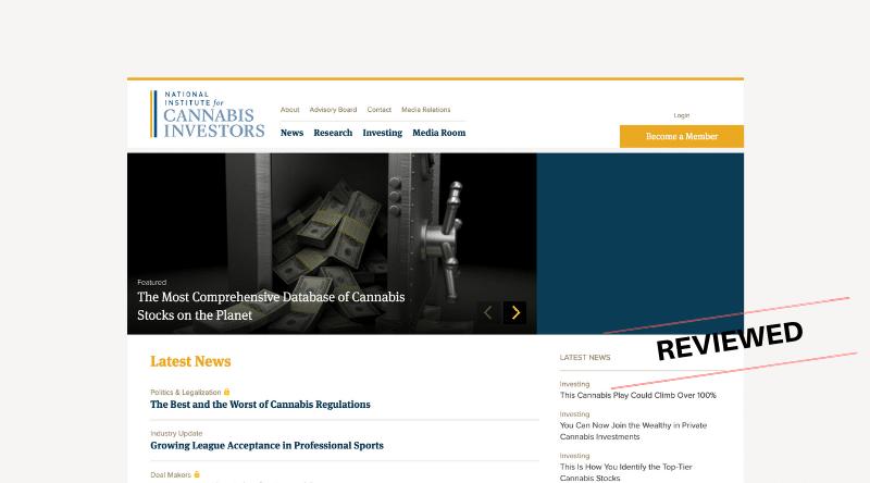 National Institute for Cannabis Investors - Scam or Legit