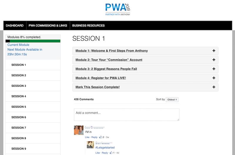 PWA Members Area
