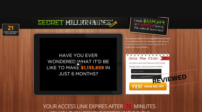 Secret Millionaires' Club - Scam or Legit