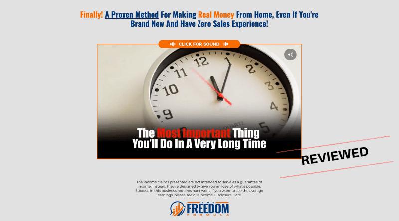 The Freedom Formula - Scam or Legit