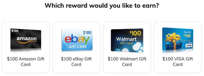 gift card rewards