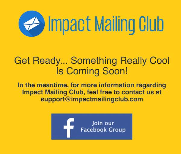 impactmailingclub.com website