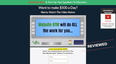 Example of how the Website ATM sales page is similar to Profit Point Autonomy