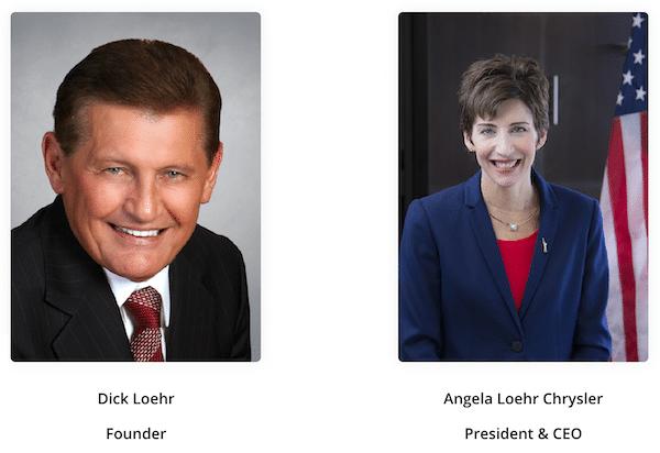 Dick Loehr and Angela Loehr Chrysler