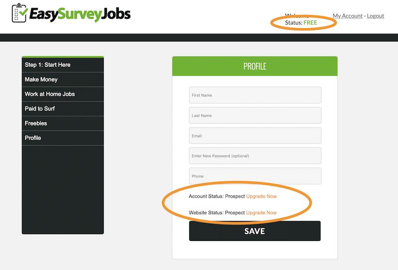 Easy Survey Jobs Members Area